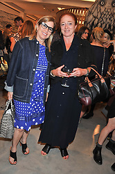 Left to right, RONNIE NEWHOUSE and CAMILLA LOWTHER at a party to celebrate the launch of the Vogue Fashion's Night Out held at Mulberry, Bond Street, London on 6th September 2012.