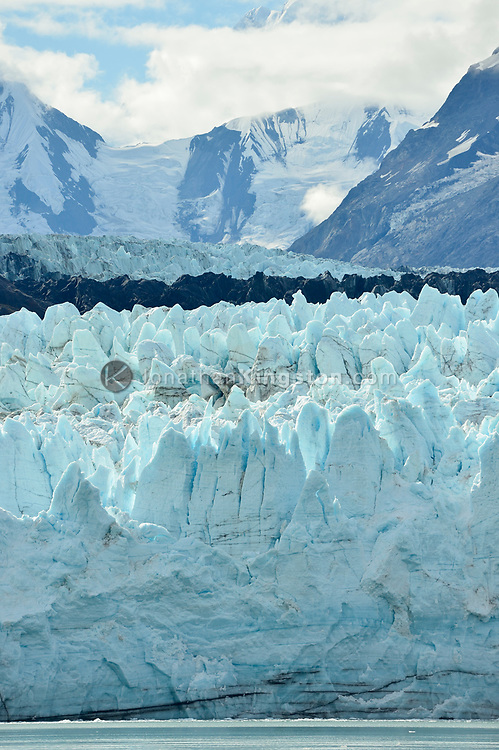 Seracs on the face of the Margerie Glacier in Glacier Bay National Park, Alaska.