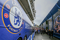 Chelsea fans gather as the players coach arrives - Mandatory by-line: Jason Brown/JMP - 04/01/2017 - FOOTBALL - Stamford Bridge - London, England - Chelsea v Arsenal - Premier League