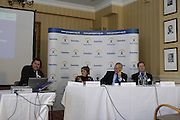 Queens Club, GREAT BRITAIN, top table left to right Dr Mark SMITH [Nenisys]  Dame Tanni GREY-THOMPSON  [BPA], Martin SCICLUNA [Deloitte]  and Mike BRACE [BPA], during the  press Conference to announce the joint initiative between British Paralympic Association and Deloitte  of 'www.Parasport.org.uk' online information service, on Thur's.  03.05.2007. London. [Credit: Peter Spurrier/Intersport Images]