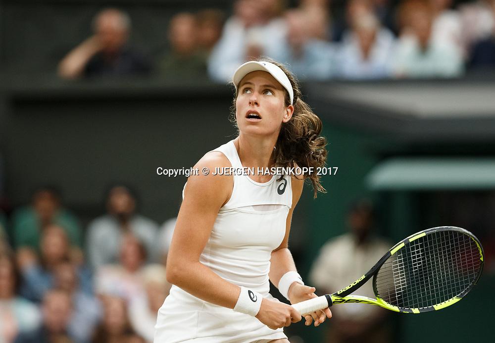 JOHANNA KONTA (GBR) schaut nach oben,<br /> <br /> Tennis - Wimbledon 2017 - Grand Slam ITF / ATP / WTA -  AELTC - London -  - Great Britain  - 11 July 2017.