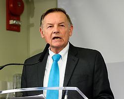 March 26, 2019 - Washington, DC, United States - G. William Hoagland, Senior Vice President of the Bipartisan Policy Center seen speaking during a program titled ''Tracking Federal Funding to Combat the Opioid Crisis'' at the Bipartisan Policy Center in Washington, DC. (Credit Image: © Michael Brochstein/SOPA Images via ZUMA Wire)