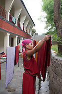 Tenzin Butith, nun at Dolma Ling Nunnery, Dharmasala, Indien.NOT FOR COMMERCIAL USE UNLESS PRIOR AGREED WITH PHOTOGRAPHER. (Contact Christina Sjogren at email address : cs@christinasjogren.com )