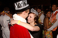 Seniors prom queen Morgan Terrill and king Nick Umbdenstock dance during the Fairborn High School prom at Wright State University's Student Union in Fairborn, Saturday, May 7, 2011.