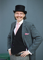 LIVERPOOL, ENGLAND - Thursday, April 9, 2015: Robin Ellis from Liverpool during Grand Opening Day on Day One of the Aintree Grand National Festival at Aintree Racecourse. (Pic by David Rawcliffe/Propaganda)