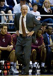 February 27, 2010; Berkeley, CA, USA;  Arizona State Sun Devils head coach Herb Sendek during the first half against the California Golden Bears  at Haas Pavilion.  California defeated Arizona State 62-46