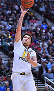 SAN DIEGO, CA - MARCH 18:  West Virginia Mountaineers forward Teddy Allen (13) shoots against the Marshall Thundering Herd during a second round game of the Men's NCAA Basketball Tournament at Viejas Arena in San Diego, California.  (Photo by Sam Wasson)