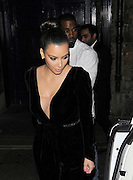 09.NOVEMBER.2012. LONDON<br /> <br /> KIM, KOURTNEY KARDASHIAN AND KANYE WEST LEAVE MOVIDA NIGHTCLUB IN MAYFAIR AND HEAD BACK TO THE DORCHESTER HOTEL WHERE THEY GREAT FANS, LONDON, UK.<br /> <br /> BYLINE: EDBIMAGEARCHIVE.CO.UK<br /> <br /> *THIS IMAGE IS STRICTLY FOR UK NEWSPAPERS AND MAGAZINES ONLY*<br /> *FOR WORLD WIDE SALES AND WEB USE PLEASE CONTACT EDBIMAGEARCHIVE - 0208 954 5968*