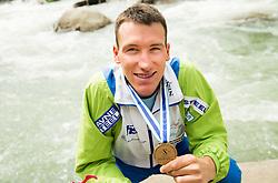 Luka Bozic of Slovenia, third placed  in Final of Canoe Single C1 Men during ICF Canoe Slalom World Cup Tacen 2014 on June 14, 2014 in Ljubljana, Slovenia. Photo by Vid Ponikvar / Sportida