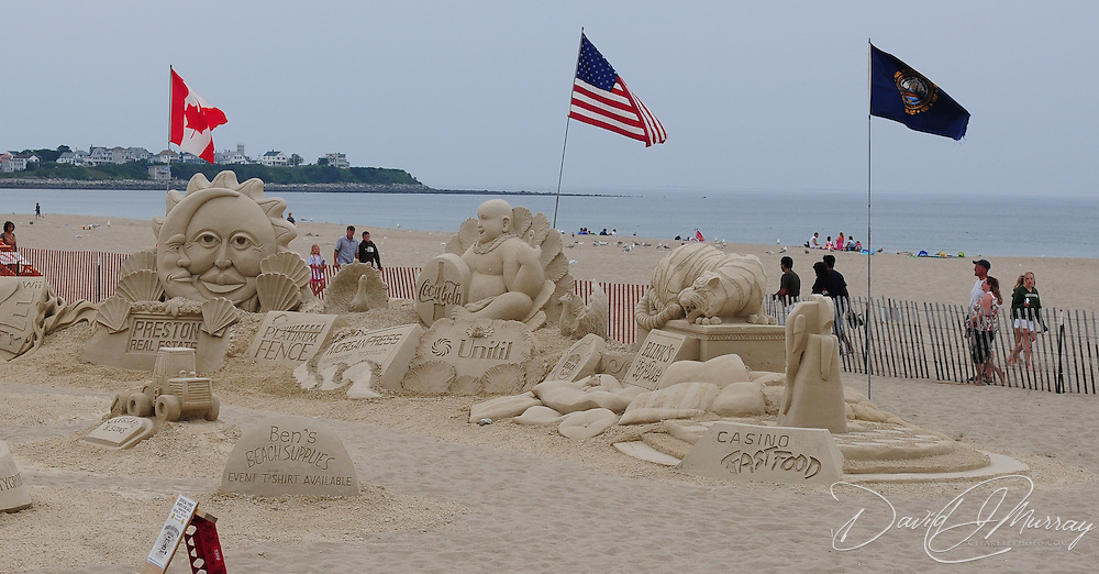 Sand Sclupting competition at Hampton Beach