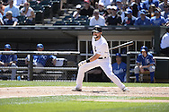 CHICAGO - JUNE 14:  Adam Eaton of the Chicago White Sox bats against the Kansas City Royals on June 14, 2014 at U.S. Cellular Field in Chicago, Illinois.   (Photo by Ron Vesely)