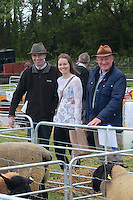Frank Jennings and Edel Kelly of Lawrencetown with Daniel Fleming Blarney attending 'SHEEP2015', the major National Sheep Open Day hosted by Teagasc at Athenry on Saturday. Photo:- Andrew Downes / xposure.ie  No Fee. Issued on behalf of Teagas