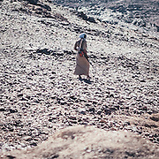 Spotted on the road between Shalateen and Halayeb, a Bishari bedouin using a metal detector searching for gold.