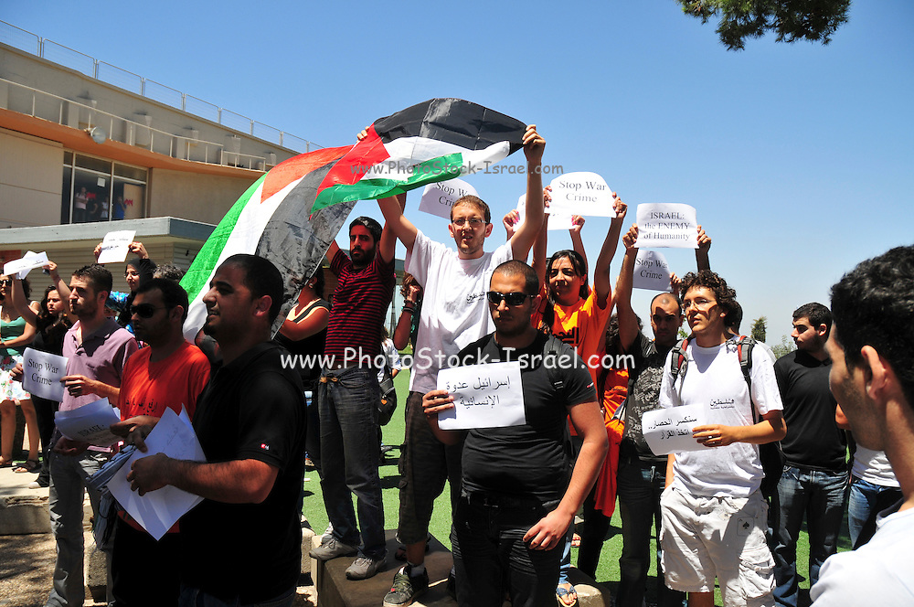 Israel, Haifa University a Pro Palestinian demonstration