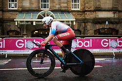 Maria Novolodskaya (RUS) at UCI Road World Championships 2019 Elite Women's TT a 30.3 km individual time trial from Ripon to Harrogate, United Kingdom on September 24, 2019. Photo by Sean Robinson/velofocus.com