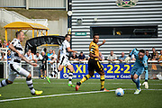 Forest Green Rovers Midfielder, Darren Carter (12) shot leads to a goal 0-1 during the Vanarama National League match between Maidstone United and Forest Green Rovers at the Gallagher Stadium, Maidstone, United Kingdom on 27 August 2016. Photo by Adam Rivers.