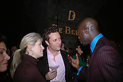 Giulia Constantini, Toby Rowland and Oswald Boateng, De Beers, Talisman launch party. The Shunt Vaults, 20 Stainer Street, London, SE1, 28  November 2005. ONE TIME USE ONLY - DO NOT ARCHIVE  © Copyright Photograph by Dafydd Jones 66 Stockwell Park Rd. London SW9 0DA Tel 020 7733 0108 www.dafjones.com