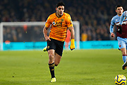 Raul Jimenez runs forward during the Premier League match between Wolverhampton Wanderers and West Ham United at Molineux, Wolverhampton, England on 4 December 2019.