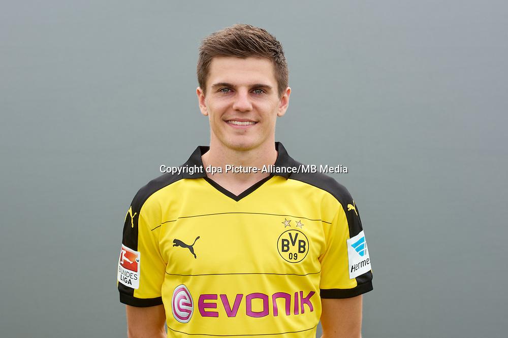 Photocall German Soccer Bundesliga 2015/16 - Borussia Dortmund on 15 July 2015 in Dortmund, Germany: Jonas Hofmann