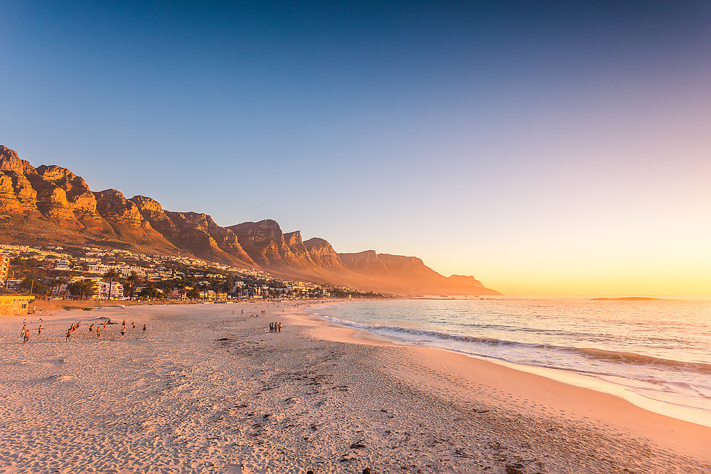 A picture of Camps Bay Beach in Cape Town, South Africa.