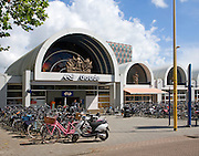Bicycles at Gouda railway station , South Holland, Netherlands,