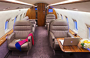 Interior of a Challenger 604, shot at Charlie Brown Airfield, Atlanta.