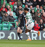 Dundee's Paul McGinn runs at Celtic's Virgil van Dijk -  Celtic v Dundee - SPFL Premiership at Celtic Park<br /> <br /> <br />  - © David Young - www.davidyoungphoto.co.uk - email: davidyoungphoto@gmail.com