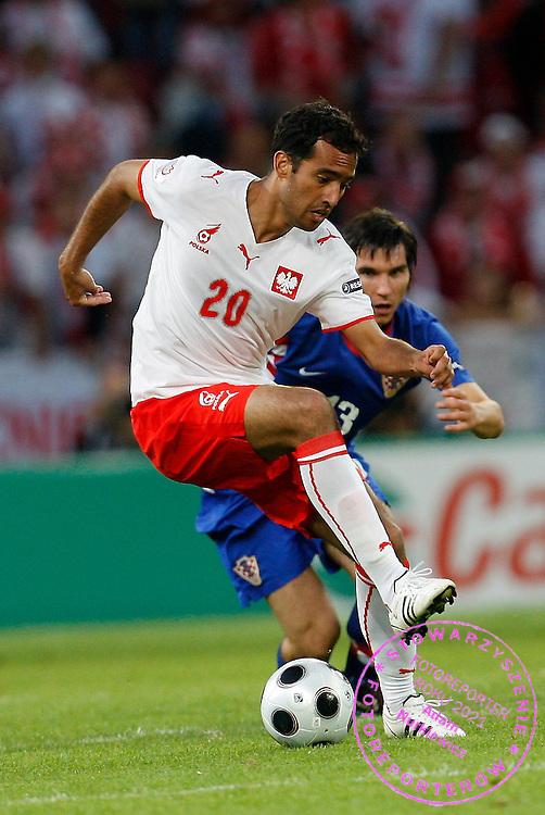 KLAGENFURT 16/06/2008.Euro 2008 - Group B.CROATIA v POLAND.ROGER GUERREIRO OF POLAND ..*****************.FOT. PIOTR HAWALEJ / WROFOTO