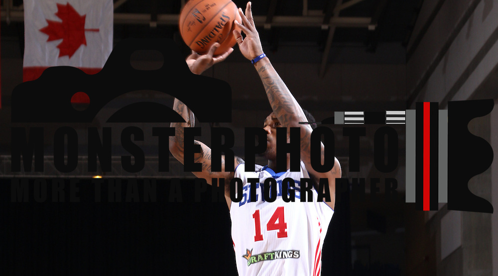 Delaware 87ers Guard SEAN KILPATRICK (14) attempts a Jump shot in the first half of a NBA D-league regular season basketball game between the Delaware 87ers (76ers) and the Canton Charge (Cleveland Cavaliers) Tuesday, Nov. 17, 2015, at The Bob Carpenter Sports Convocation Center in Newark, DEL