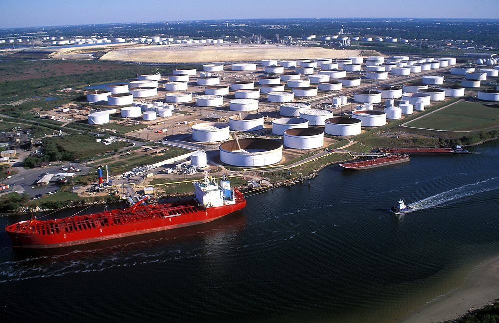 Oil Tankers In Port Of Houston