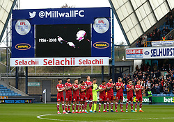 A minutes applause is held ahead of Millwall v Bristol City for Former Footballer Ray Wilkins who passed away earlier in the week  - Mandatory by-line: Robbie Stephenson/JMP - 07/04/2018 - FOOTBALL - The Den - London, England - Millwall v Bristol City - Sky Bet Championship