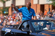Aug 3, 2019; Canton, OH, USA; Warren Moon during the Pro Football Hall of Fame Grand Parade on Cleveland Ave. in Downtown Canton. (Robin Alam/Image of Sport)