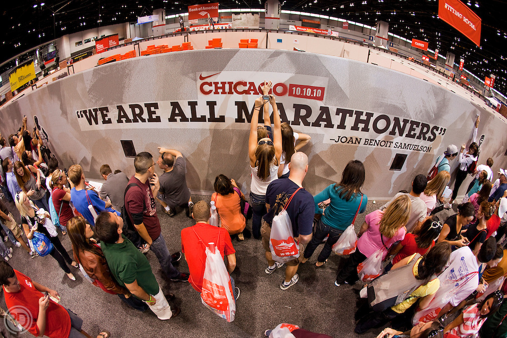 2010 Chicago Marathon Expo - The Nike Store .Some additional Images from Niketown-Michigan Avenue.October 9, 2010..Photograph by Ross Dettman