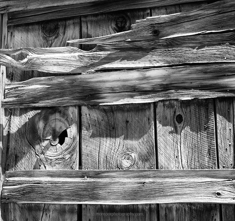 Weathered wood at Bodie ,California. Eastern side of the Sierra Nevada Mountain Range.