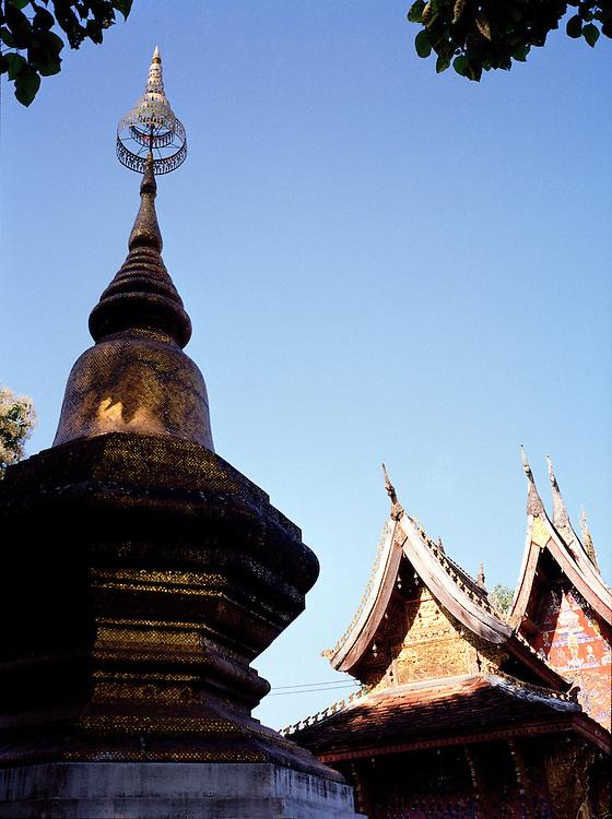 Stupa at Wat Xieng Thong.