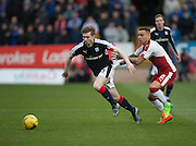 Dundee's Craig Wighton races away from Rangers' James Tavernier - Dundee v Rangers in the Ladbrokes Scottish Premiership at Dens Park, Dundee.Photo: David Young<br /> <br />  - © David Young - www.davidyoungphoto.co.uk - email: davidyoungphoto@gmail.com