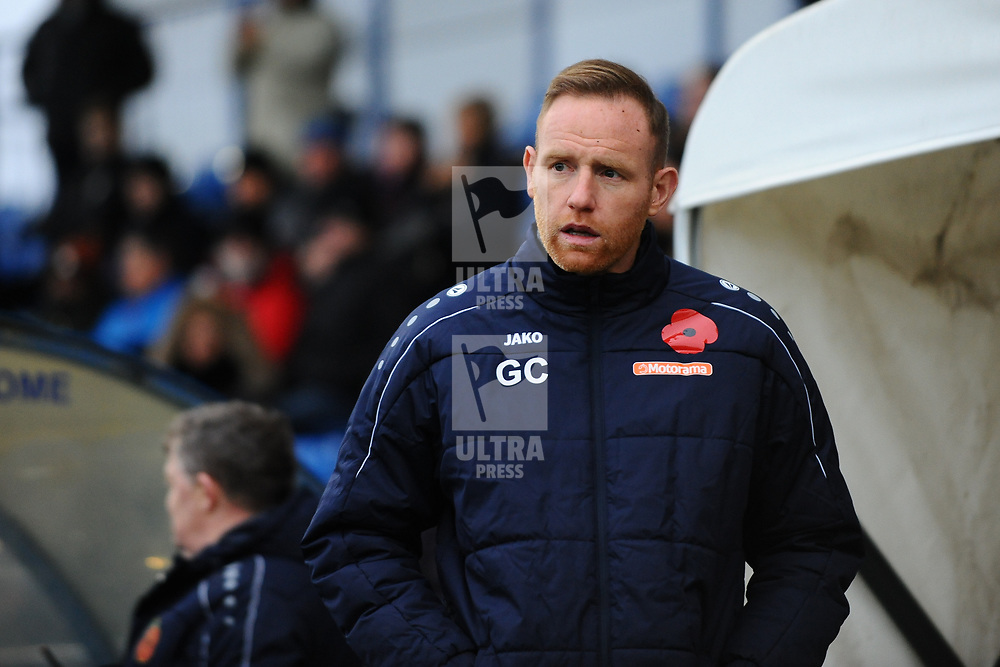 TELFORD COPYRIGHT MIKE SHERIDAN Telford boss Gavin Cowan during the Vanarama National League Conference North fixture between Curzon Asthon and AFC Telford United on Saturday, November 9, 2019.<br /> <br /> Picture credit: Mike Sheridan/Ultrapress<br /> <br /> MS201920-028