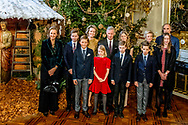 20-12-2017 BRUSSELS - Queen Mathilde and King Filip and Crown Princess Elisabeth and Prince Gabriel and Prince Emmanuel and Princess Eleonore and Princess Claire and Prince Aymeric and Prince Nicolas and Princess Astrid and Prince Lorenz and Princess Laetitia Maria during the traditional Christmas concert at the Royal Palace in Brussels.  Philippe King Philip and Queen Mathilde with their children Princess Elisabeth , Prince Gabriel , Prince Emmanuel and Princess &Eacute;l&eacute;onore offer the traditional Christmas concert in the Royal of Palace of Brussels. The King and Queen wishes in particular to thank the people who have contributed to the smooth running of the Royal activities in 2017  On the program is the Messiah by GF Haendel. The concert will be accompanied by the Concert d'Anvers and the Flemish Radio Choir led by Bart van Reyn along with soloists from the Queen Elisabeth Music Chapel. COPYRIGHT ROBIN UTRECHT<br /> <br /> 20-12-2017 BRUSSEL - Koningin Mathilde en Koning Filip en Kroon Prinses Elisabeth en Prins Gabriel en Prins Emmanuel en Prinses Eleonore en Prinses Claire en Prins Aymeric en Prins Nicolas en Prinses Astrid en Prins Lorenz en Prinses Laetitia Maria tijdens het traditionele kerstconcert op het Koninklijk Paleis in Brussel. Philippe King Philip en Koningin Mathilde met hun kinderen Princess Elisabeth, Prins Gabriel, Prins Emmanuel en Prinses &Eacute;l&eacute;onore bieden het traditionele kerstconcert in het Koninklijk Paleis van Brussel. De Koning en de Koningin wensen in het bijzonder de mensen te bedanken die hebben bijgedragen aan de goede werking van de Koninklijke activiteiten in 2017 Op het programma staat de Messias van GF Haendel. Het concert wordt begeleid door het Concert d'Anvers en het Vlaams Radio Koor onder leiding van Bart van Reyn, samen met solisten van de Muziekkapel Koningin Elisabeth. COPYRIGHT ROBIN UTRECHT