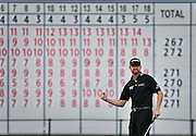 Jul 31, 2016; Springfield, NJ, USA; Jimmy Walker celebrates after making his par putt on the 18th green during the Sunday round of the 2016 PGA Championship golf tournament at Baltusrol GC - Lower Course. Mandatory Credit: Eric Sucar-USA TODAY Sports