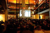 """15 FEB 2007, BERLIN/GERMANY:<br /> Filmabend des Freundeskreis Willy-Brandt-Haus e.V. und des Kulturforums der Sozialdemoktarie, anlaesslich der Berlinale unter dem Motto """"Ein Traum von Europa?"""" - Migration in Film und Realitaet, Willy-Brandt-Haus<br /> IMAGE: 20070215-01-046"""