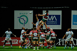 December 9, 2018 - Nanterre, Hauts de Seine, France - Leicester Flanker HARRY WELLS in action during the rugby Champions Cup Day 3 between Racing 92 and Leicester at U Arena Stadium in Nanterre - France..Racing 92 Won 36-26. (Credit Image: © Pierre Stevenin/ZUMA Wire)
