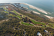 Aerial view of the Ocean Course in Kiawah Island, SC.
