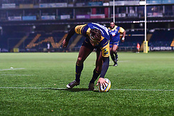 Dean Hammond of Worcester Cavaliers scores his sides second try - Mandatory by-line: Craig Thomas/JMP - 23/10/2017 - RUGBY - Sixways Stadium - Worcester, England - Worcester Cavaliers v Wasps - Aviva A League