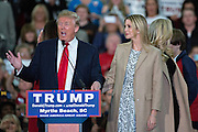 Republican presidential candidate billionaire Donald Trump introduces his daughter Ivanka Trump during a campaign rally at the Myrtle Beach Convention Center November 24, 2015 in Myrtle Beach, South Carolina.