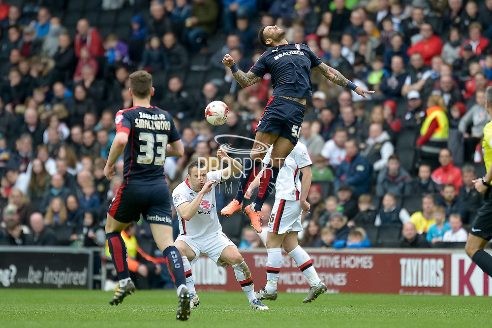 Rotherham Striker Leon Best during the Sky Bet Championship match between Milton Keynes Dons and Rotherham United at stadium:mk, Milton Keynes, England on 9 April 2016. Photo by Dennis Goodwin.