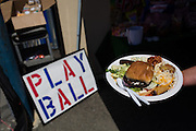Milpitas High School teachers enjoy a baseball themed Teacher Appreciation Luncheon at Milpitas High School in Milpitas, California, on April 14, 2015. (Stan Olszewski/SOSKIphoto)