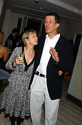 Sculptor ANTONY GORMLEY and MISS VICKEN PARSONS at a dinner hosted by Arnaud Bamber MD of Cartier, Amanda Sharp and Matthew Slotover Directors of the Frieze Art Fair to celebrate artists featured in the 2005 Frieze Art Fair Curatorial Programme at Nobu-Berkeley, 15th Berkeley Street, London on 21st October 2005.<br />