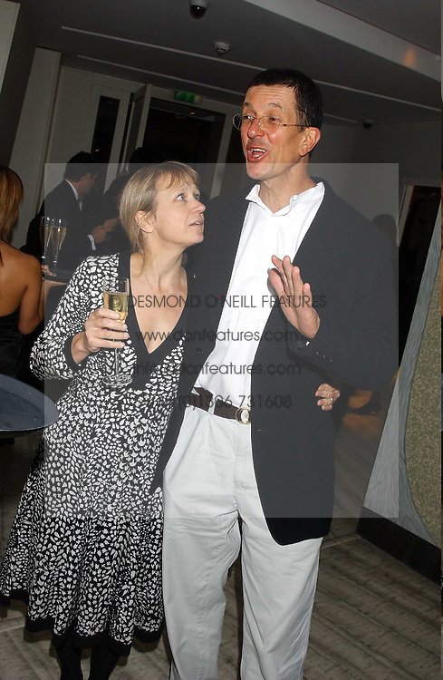 Sculptor ANTONY GORMLEY and MISS VICKEN PARSONS at a dinner hosted by Arnaud Bamber MD of Cartier, Amanda Sharp and Matthew Slotover Directors of the Frieze Art Fair to celebrate artists featured in the 2005 Frieze Art Fair Curatorial Programme at Nobu-Berkeley, 15th Berkeley Street, London on 21st October 2005.<br /><br />NON EXCLUSIVE - WORLD RIGHTS