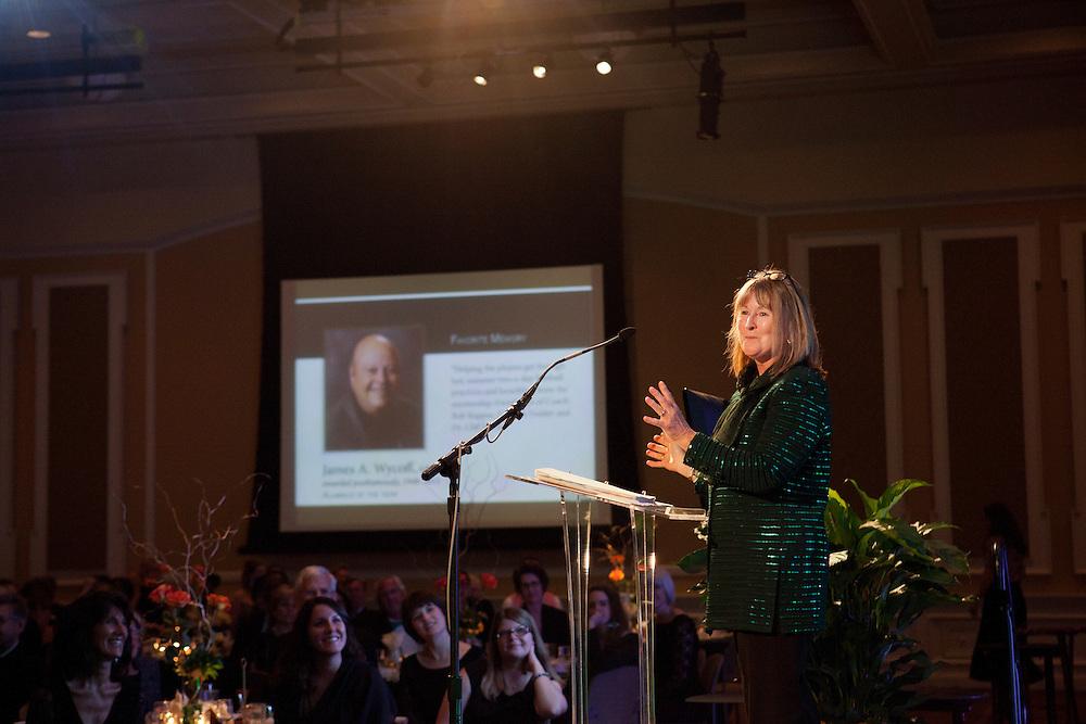 Suzi Wyckoff  at Ohio University Alumni Association's Annual Awards Gala at Baker University Center on October 11, 2013.