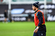Cardiff Blues' Steve Shingler during the pre match warm up<br /> <br /> Photographer Craig Thomas/Replay Images<br /> <br /> Guinness PRO14 Round 13 - Ospreys v Cardiff Blues - Saturday 6th January 2018 - Liberty Stadium - Swansea<br /> <br /> World Copyright &copy; Replay Images . All rights reserved. info@replayimages.co.uk - http://replayimages.co.uk